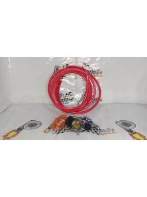 Kit Booster com Válvula Solenoide de Alta Vazão Vermelho