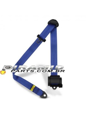 Cinto Retrátil 3 Pontos para Carros Turbo ou Aspirado Azul