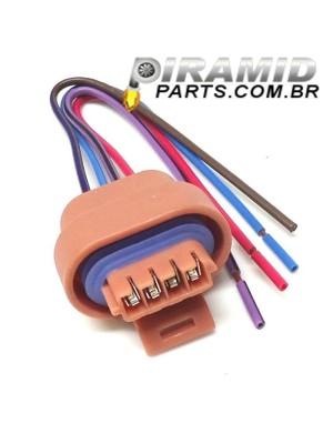 Conector da Bobina do Corsa 4 Pinos