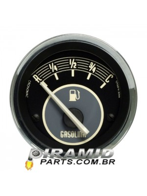 Indicador de Nivel de Combustivel 52mm Eletrico Bege para Fusca