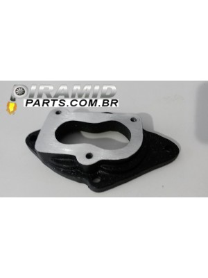 Base De Carburador 2e ou 3e Para Coletor VW AP Em Aluminio