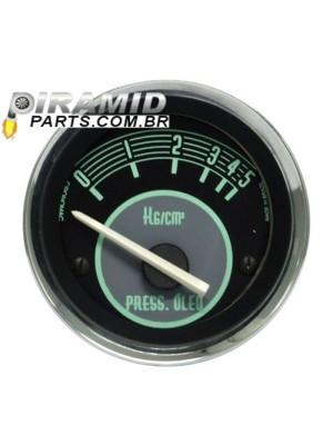 Manometro Pressão de Óleo Elétrico 5kg 52mm Linha Retro Verde para Fusca