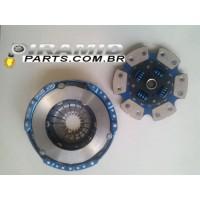 kit embreagem cerâmica com 6 pastilhas e molas para VW gol ea111 1.6 turbo ou aspirado