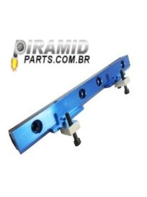 Flauta de Combustível Principal para VW AP Anodizada na cor Azul