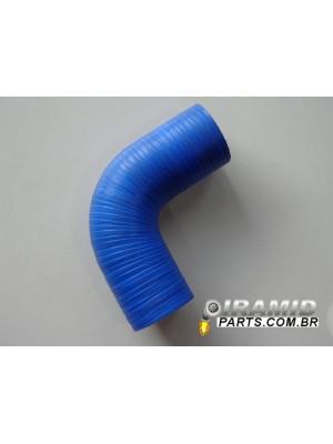 """Curva de Silicone 90° 3"""" (para turbos)"""