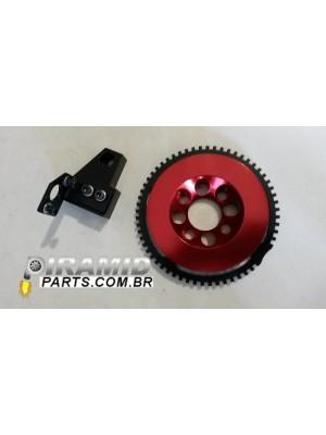 Kit Roda Fônica VW AP com Suporte na Cor Vermelha Compatível para Fueltech