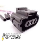 Conector do Sensor de Rotação Gol Flex, Fox, Golf, Audi A3, Bora